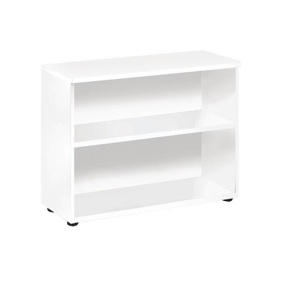 Jemini White 730mm Bookcase 1 Shelf KF838618