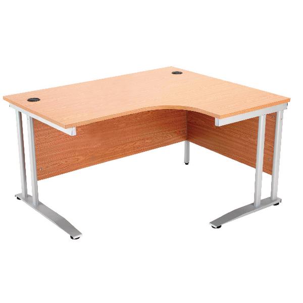 Arista Oak 1600mm Radial Desk Right Hand KF838655