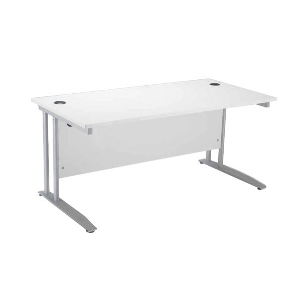 Rectangular Arista Cantilever 1400mm White Rectangular Desk KF838774