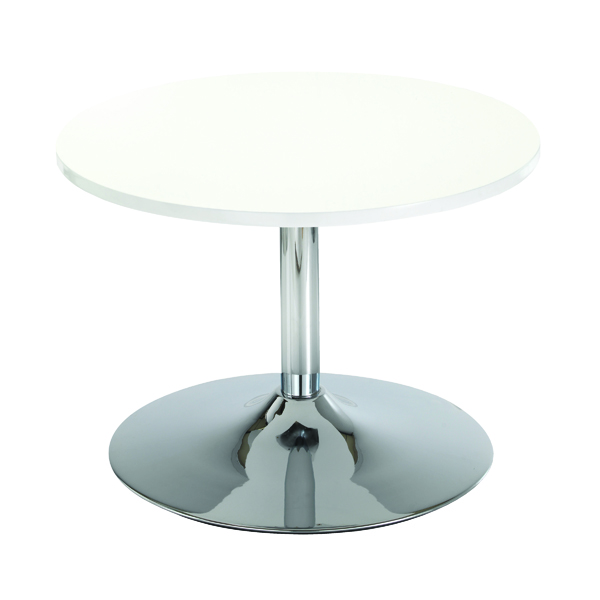Tables Arista White 800mm Low Bistro Table with Trumpet Base KF838812
