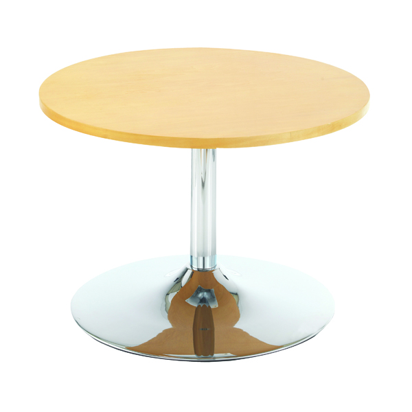 Tables Arista Beech 800mm Low Bistro Table with Trumpet Base KF838813