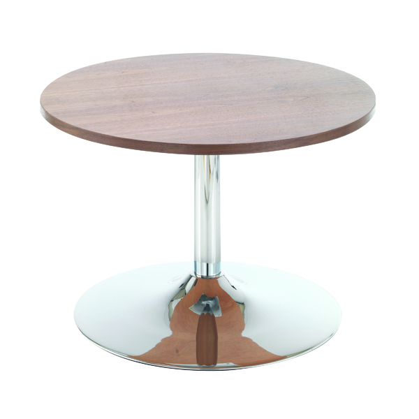Arista Walnut 800mm Low Bistro Table with Trumpet Base KF838814