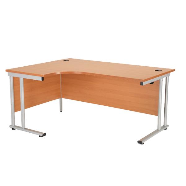 First Radial Left Hand Cantilever Desk 1600mm Beech KF838939
