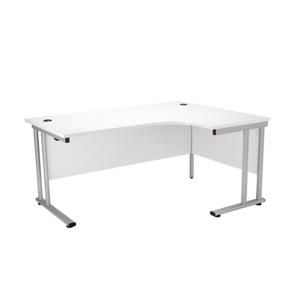 First Radial Right Hand Cantilever Desk 1600mm White KF838944