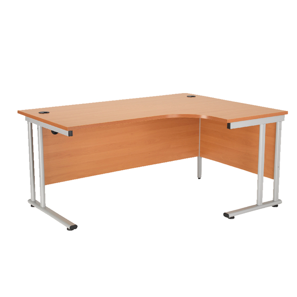 First Radial Right Hand Cantilever Desk 1800mm Beech KF838946