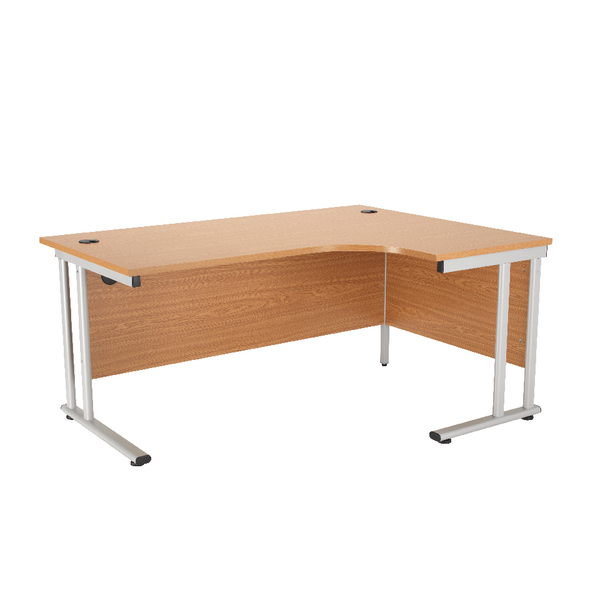 First Radial Right Hand Cantilever Desk 1800mm Oak KF838948