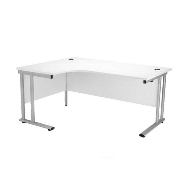 First Radial Left Hand Cantilever Desk 1800mm White KF838949