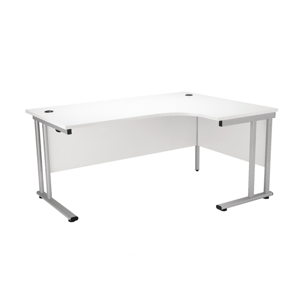 First Radial Right Hand Cantilever Desk 1800mm White KF838950