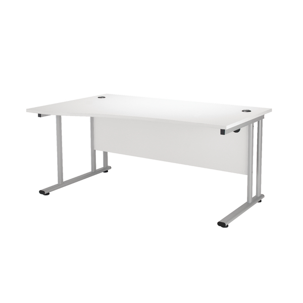 Wave First Wave Left Hand Cantilever Desk 1600mm Beech KF838951