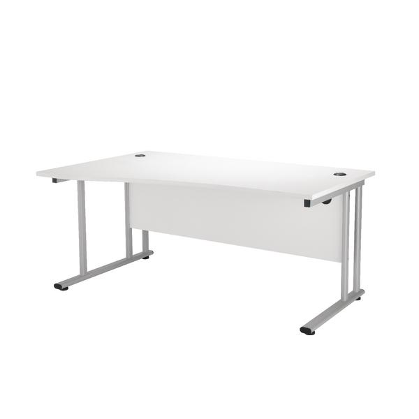 First Wave Left Hand Cantilever Desk 1600mm Oak KF838953