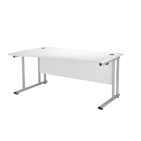 Wave First Wave Left Hand Cantilever Desk 1600mm White KF838955