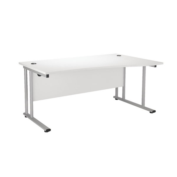 Wave First Wave Right Hand Cantilever Desk 1600mm White KF838956