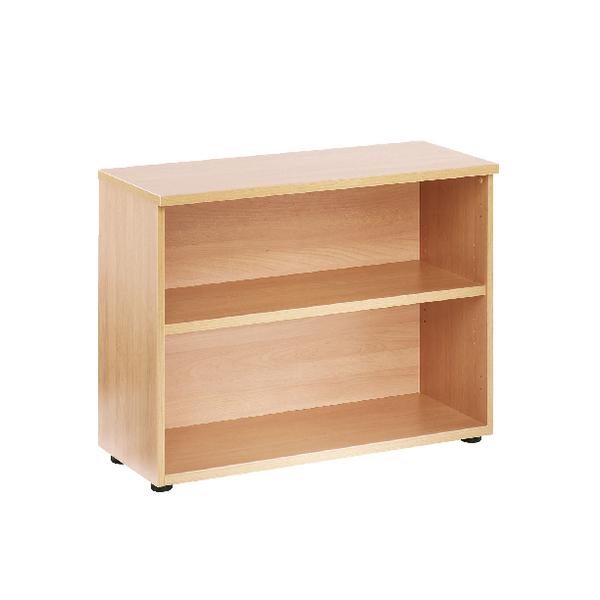 H up to 1200mm First 730mm Bookcase 1 Shelf Beech KF839198