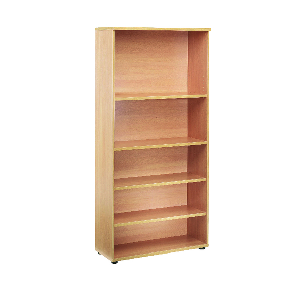 H over 1200mm First 1800mm Bookcase 4 Shelf Beech KF839199