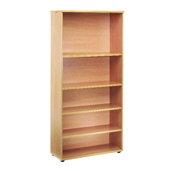 H over 1200mm First 1800mm Bookcase 4 Shelf Oak KF839202