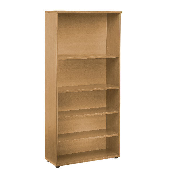 H over 1200mm First 2000mm Bookcase 4 Shelf Oak KF839203