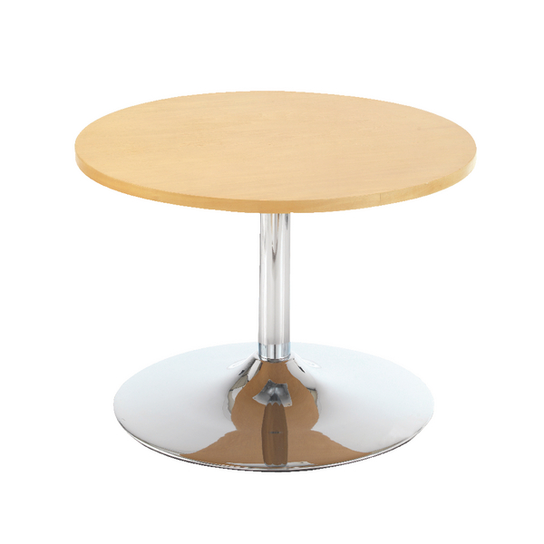 Unspecified First Bistro Table Trumpet Base 800mm Diameter Low Light Beech KF839232