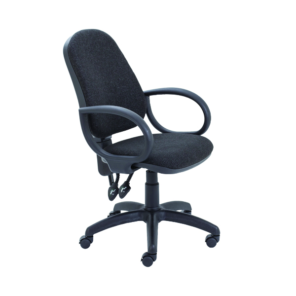 Unspecified First High Back Operators Chair Charcoal with Fixed Arms KF839242