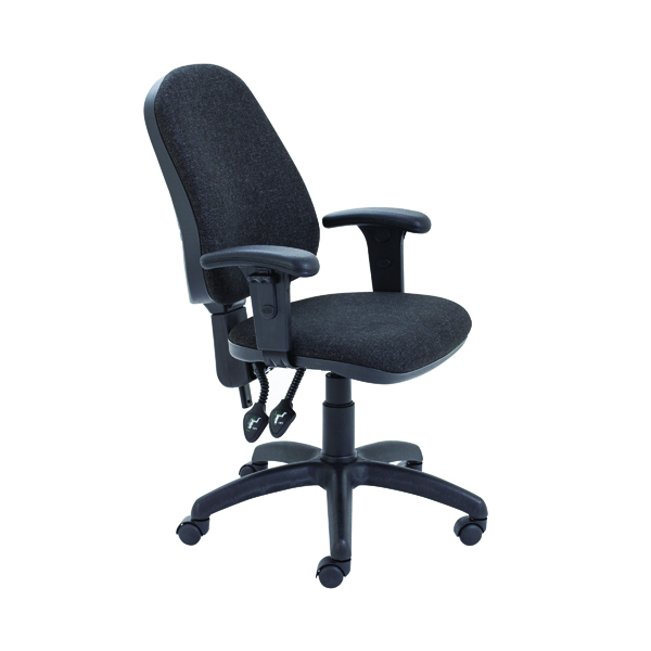 Unspecified First High Back Operators Chair Charcoal with Adjustable Arms KF839244