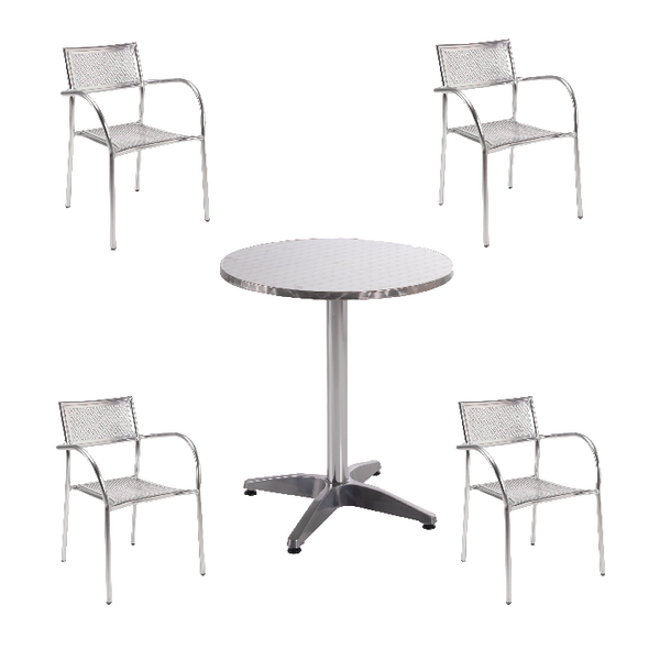 Seating Arista Aluminium Bistro Table and Chairs Bundle KF839474
