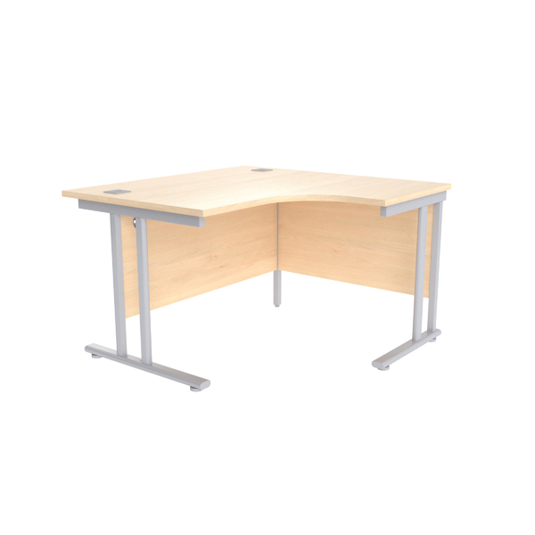 Radial Jemini Maple/Silver 1200mm Right Hand Radial Cantilever Desk KF839607