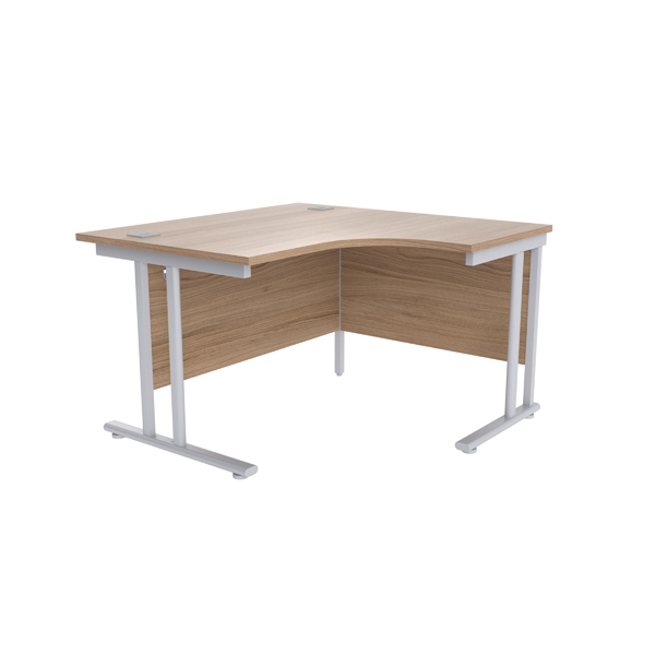Radial Jemini Grey Oak/Silver 1200mm Right Hand Radial Cantilever Desk KF839609