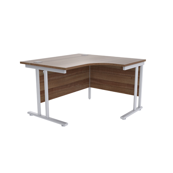 Radial Jemini Walnut/Silver 1200mm Right Hand Radial Cantilever Desk KF839610