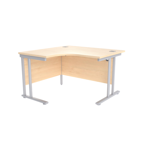 Radial Jemini Maple/Silver 1200mm Left Hand Radial Cantilever Desk KF839613