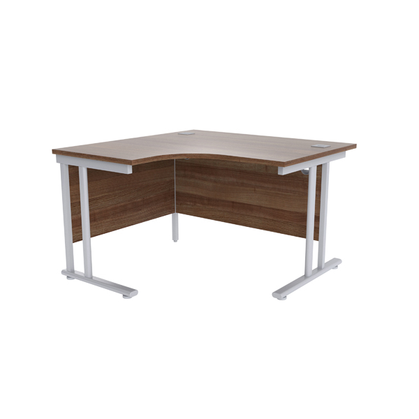 Radial Jemini Walnut/Silver 1200mm Left Hand Radial Cantilever Desk KF839616