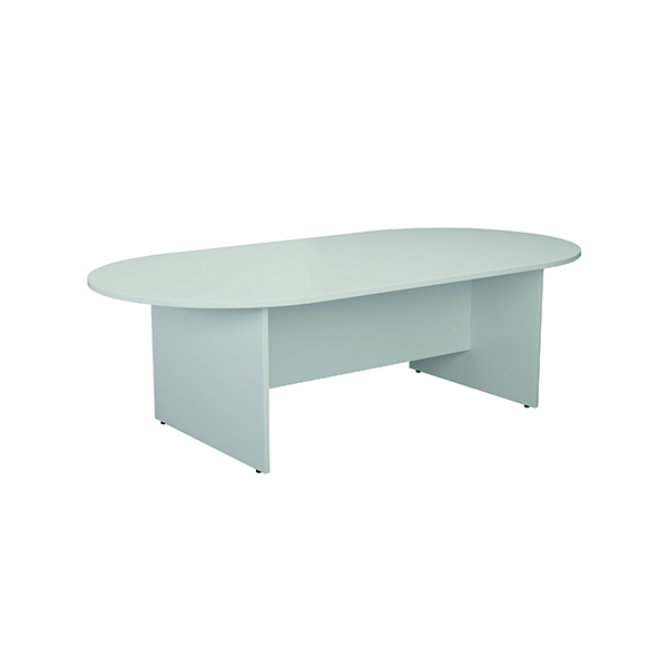 Boardroom Jemini White 2400mm Meeting Table KF840159