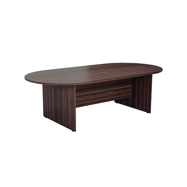Boardroom Jemini 2400mm Meeting Table Dark Walnut KF840161