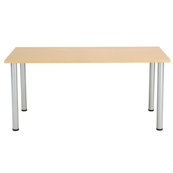 Jemini Oak 1800x800mm Rectangular Meeting Table KF840177