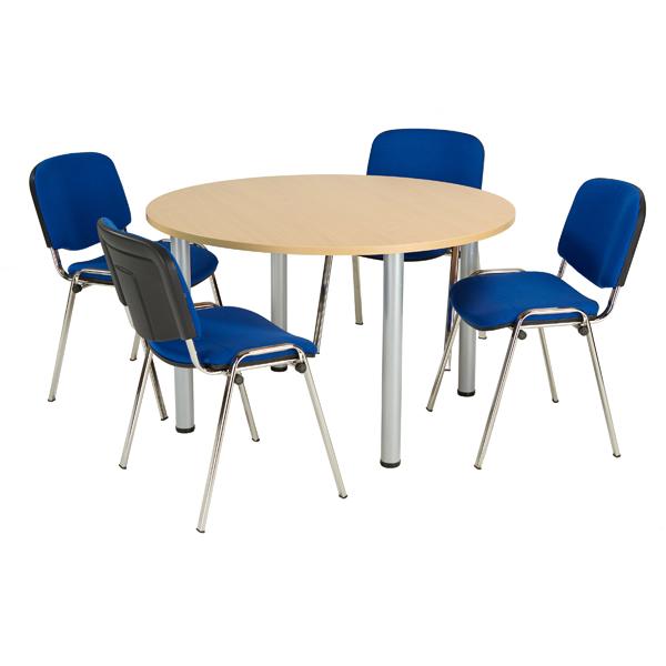 Jemini Oak 1200mm Circular Meeting Table KF840178
