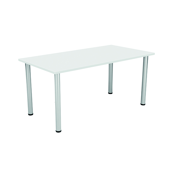 Unspecified Jemini White 1600x800mm Rectangular Meeting Table KF840186