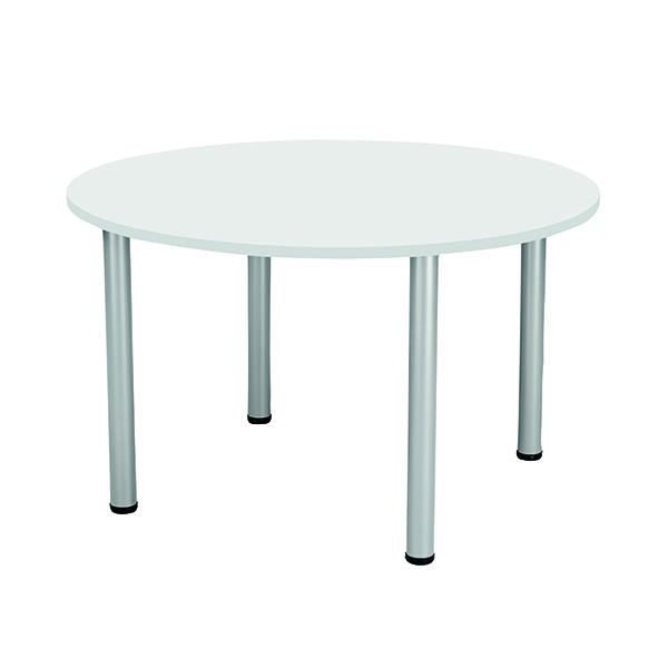 Boardroom Jemini White 1200mm Circular Meeting Table KF840188
