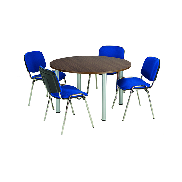 Boardroom Jemini Walnut 1200mm Circular Meeting Table KF840193