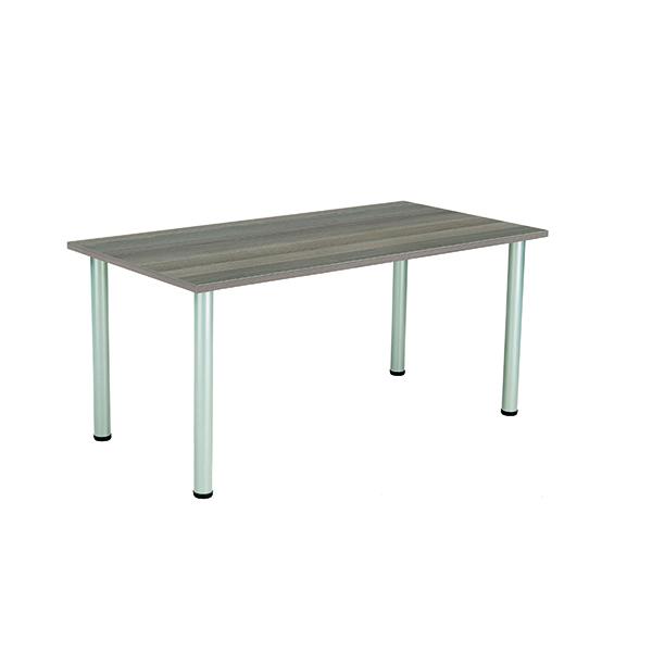 Jemini Grey Oak 1600x800mm Rectangular Meeting Table KF840196