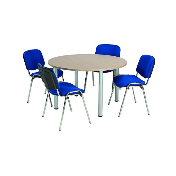 Jemini Grey Oak 1200mm Circular Meeting Table KF840198