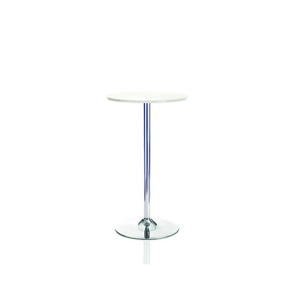 Jemini Tall Bistro Trumpet Table 600mm White/Chrome KF840209