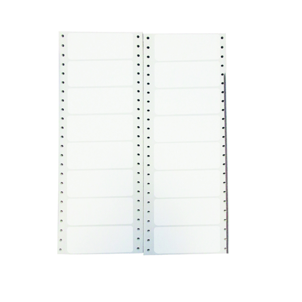 Continuous Labels Q-Connect Computer Label 89x36mm 1 Across The Web 8 Per Fanfold White (8000 Pack) KF89361