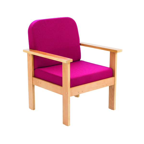 Reception Chairs FF First Wooden Reception Armchair Claret OF0310CL