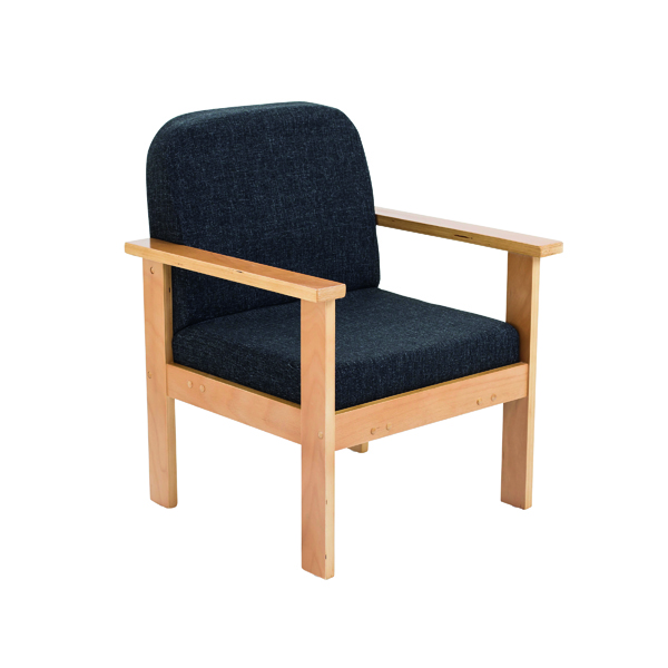 Reception Chairs FF First Wooden Reception Armchair Charcoal OF0310CH