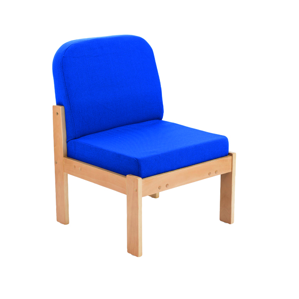 FF First Wooden Reception Side Chair Blue OF0309RB
