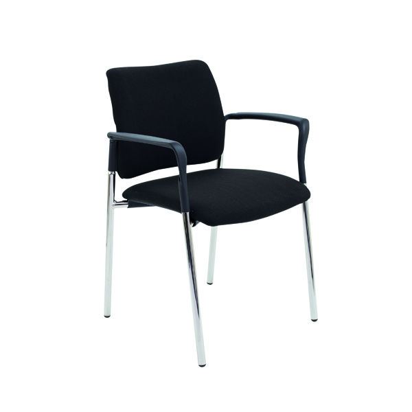 Unspecified FF First Verona Fabric Arm Chair Chrome Frame CH3509BK