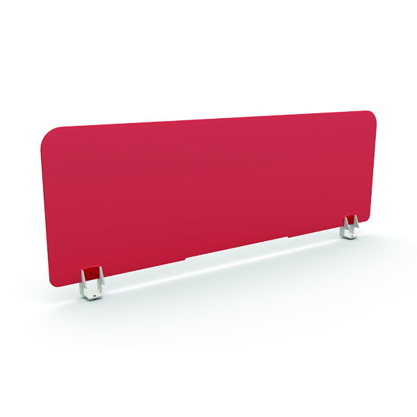Desk Jemini Type1 Acrylic Straight Screen 700x380mm Clear TKDMSACS0738UN