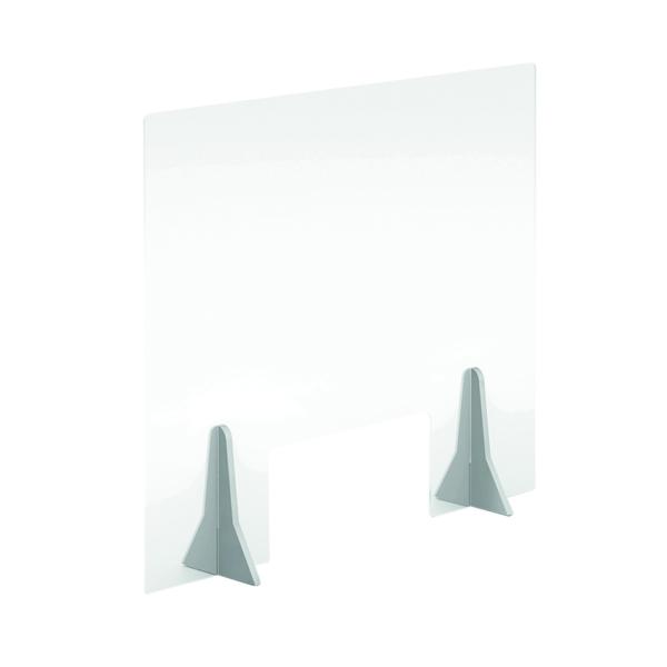 Desk Jemini Free Standing Acrylic Screen 600x500x4mm Clear COVFS6050CL