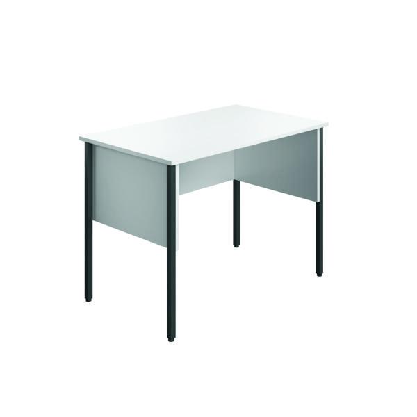 Rectangular Eco Midi Homework Desk 1000x600mm White ECMHD1060WH