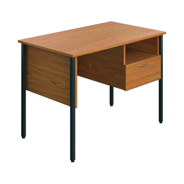 Rectangular Eco 18 Homework Desk Four Leg Oak ECS1000FLOK