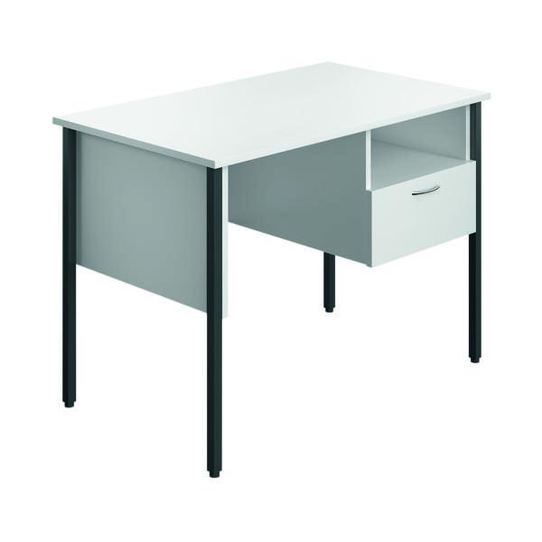 Rectangular Eco 18 Homework Desk Four Leg White ECS1000FLWH