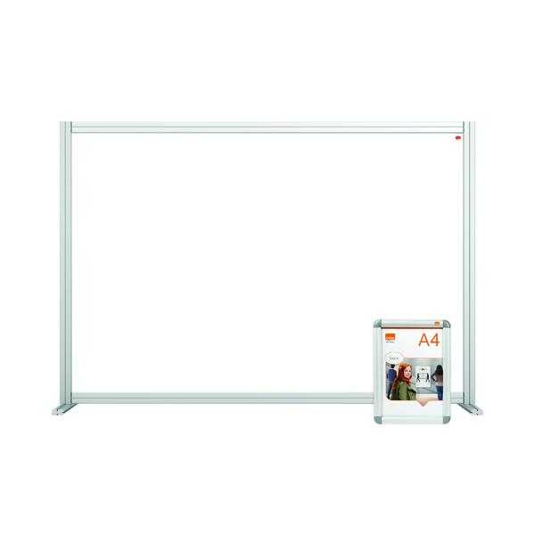 Desk Jemini Acrylic Modular Desk Divider 1400 x 1000mm Clear KF90372